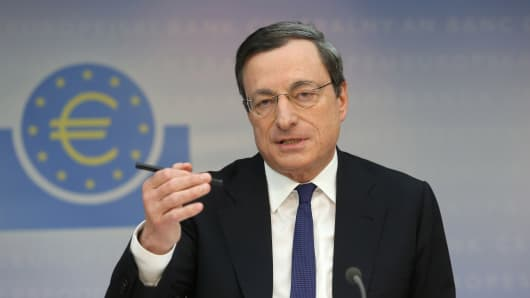 Mario Draghi, president of the European Central Bank (ECB).