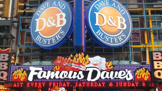 Dave & Buster's Restaurant in New York City.
