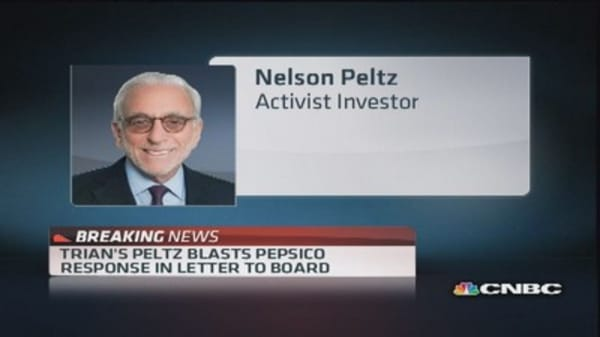 Trian's Peltz blasts PepsiCo's response to board