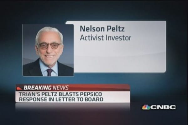 Trian's Peltz blasts PepsiCo's response to board