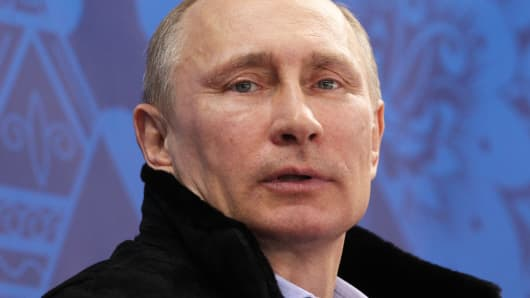 Russian President Vladimir Putin, March 8, 2014.