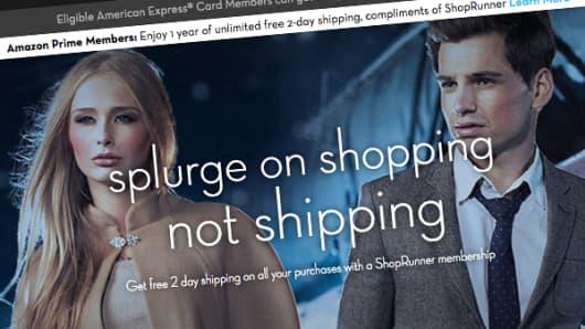 ShopRunner web page