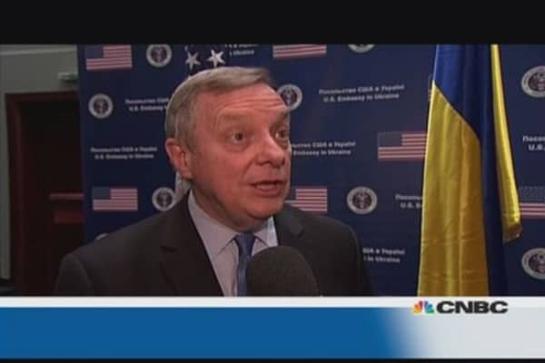 Natural gas is trump card played by Putin: Sen. Durbin