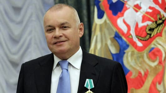 Russian television journalist Dmitry Kiselyov.