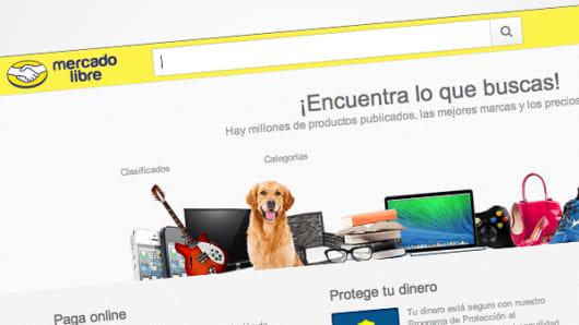 MercadoLibre webpage in Venezuela