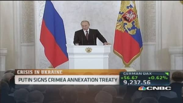 No intention of splitting Ukraine: Putin