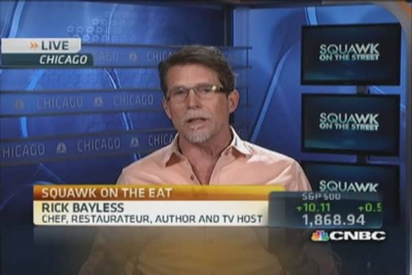 Chef Bayless dishes on the restaurant business
