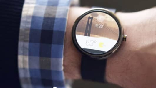 Video still from GoogleMobile Android Wear promotion.
