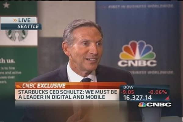 Starbucks' Schultz: Raising prices wrong strategy