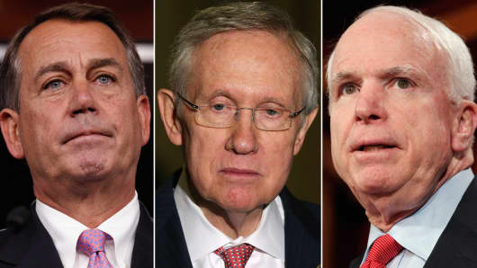 Russia has imposed sanctions on nine U.S. officials including John Boehner, Harry Reid and John McCain, in response to U.S. sanctions imposed on Russia.