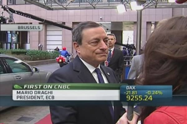 Draghi hails 'great progress' on banking union