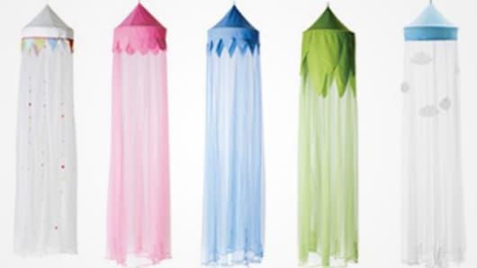 Ikea recalls bed canopies over strangulation risk.