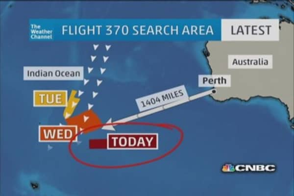 Possible debris found from missing jet