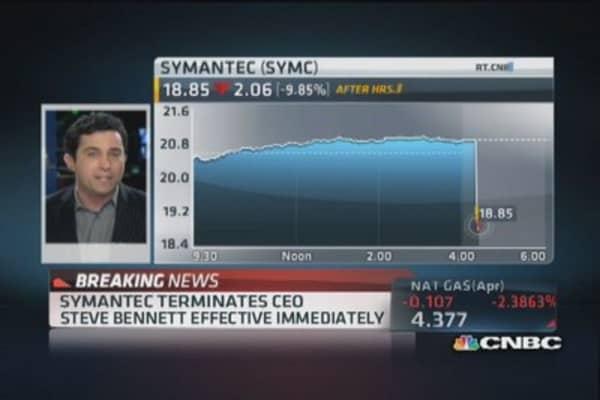 Symantec terminates CEO