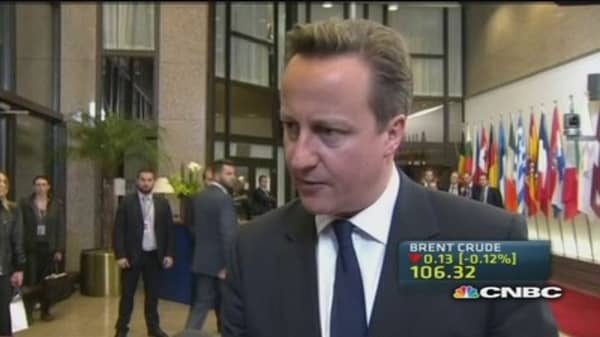 UK PM: EU to send a strong message to Russia