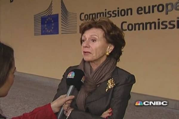 Twitter ban is 'unacceptable': EC's Kroes