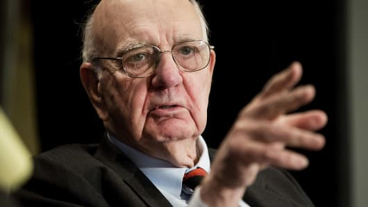 Paul Volcker, former chairman of the Federal Reserve.