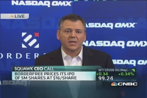 Borderfree IPO prices at $16 per share