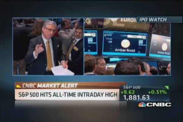 Pisani: S&P 500 hits all-time intraday high