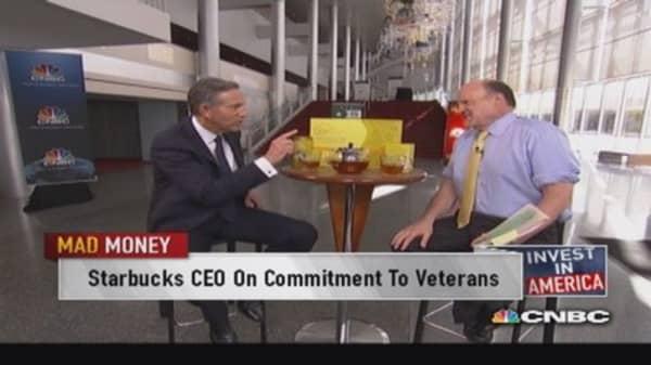 Starbucks CEO on commitment to veterans