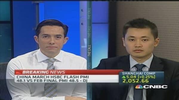 HSBC flash PMI confirms China slowdown: Moody's