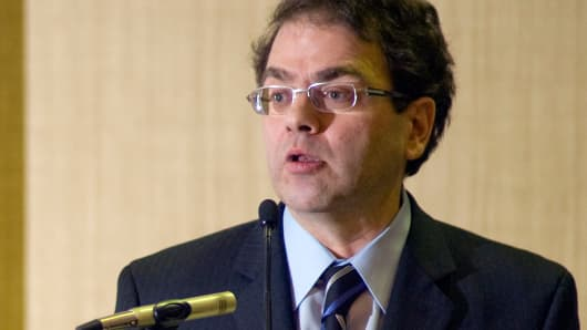 Narayana Kocherlakota, president of the Federal Reserve Bank of Minneapolis, speaks in St. Paul, Minnesota, Feb. 16, 2010.