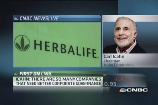 Icahn: Herbalife model works, not ponzi scheme