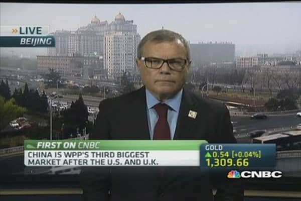 China is a fast growth market: WPP