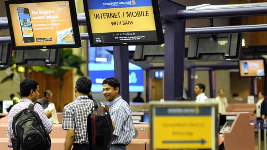 Singapore's Changi Airport.