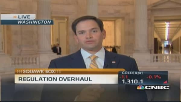 Regulations? Put a cap on it: Sen. Rubio