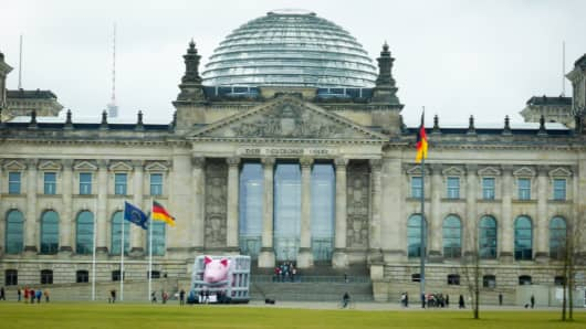 The Reichstag, Berlin, Germany.