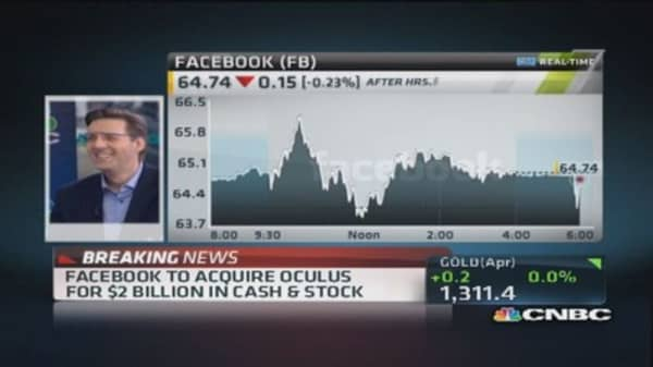 Facebook-Oculus deal long-term play: Pro