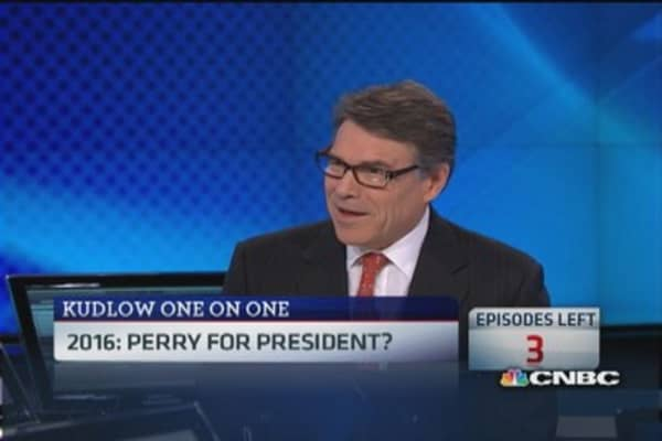 Gov. Perry leaves door open for 2016 election