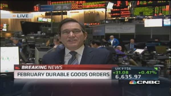 February durable goods up 2.2%