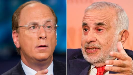 Larry Fink and Carl Icahn.
