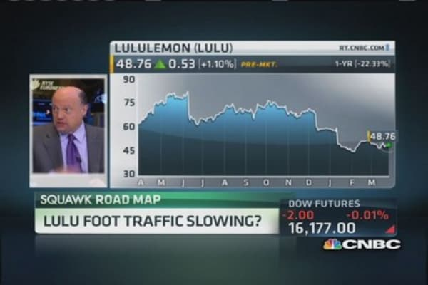 Cramer: LULU still expensive