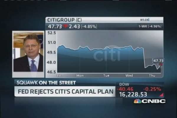 Fed rejects Citi's capital plan