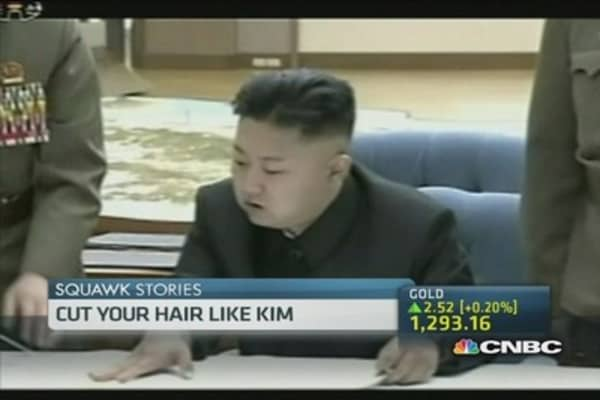 Is Kim's hairdo the new must-do in North Korea?