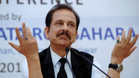 Chairman of Sahara Subrata Roy