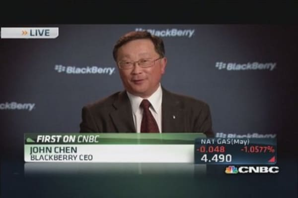 BlackBerry CEO: Encouraged by BES 12