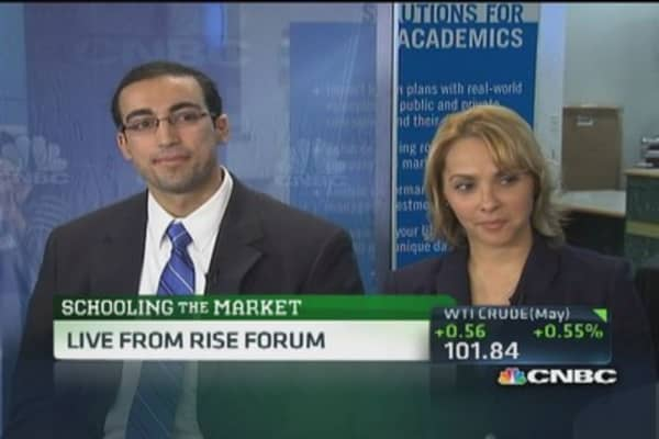 College student portfolio picks vs. traders