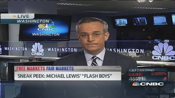 Michael Lewis taking aim at high-frequency traders