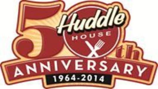 Huddle House 50th logo