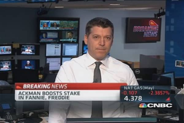 Bill Ackman increases bet on Freddie & Fannie