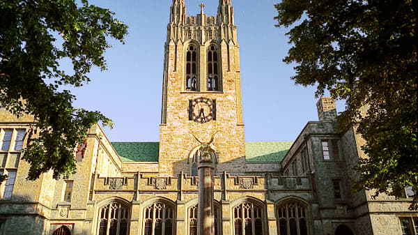Gasson Tower on the campus of Boston College