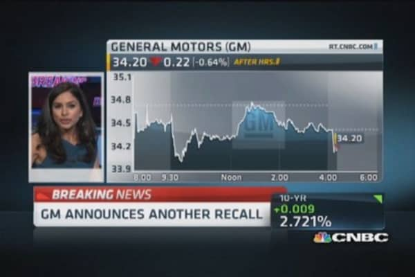 GM announces another recall