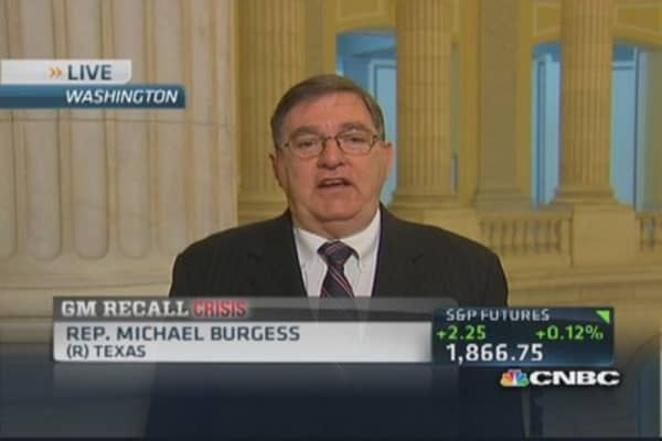 Rep Burgess: What did GM know and when?