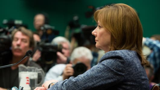 GM CEO Mary Barra appears before the House Energy and Commerce Committee on Tuesday.