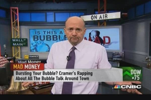 Cramer questions the bubble