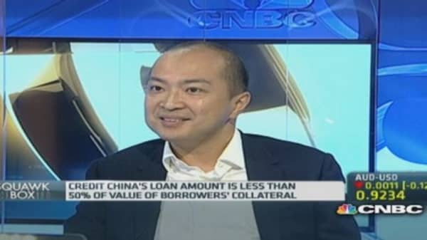 Shadow lender: Inefficiency is China's top problem